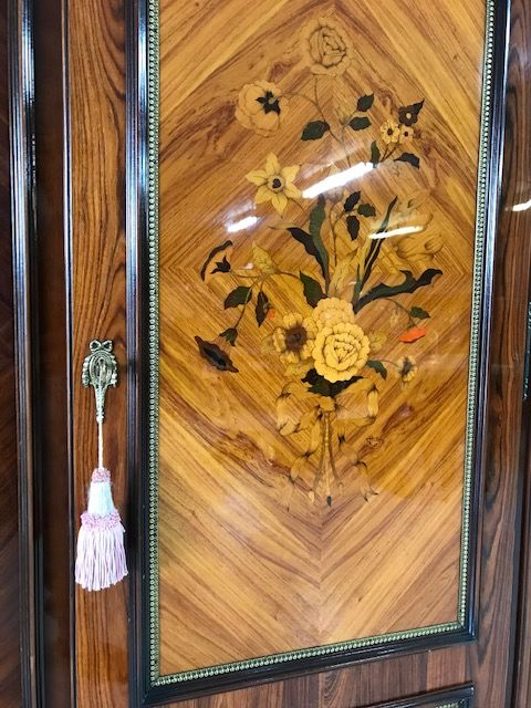 SOLD -Lovely Inlaid Armoire / Wardrobe - Great Quality - ha72